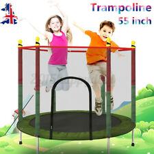4.5FT Premium Trampoline With Safety Net for Children Sports Outdoor/Indoor UK