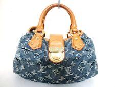 Authentic LOUIS VUITTON Monogram Denim Pleaty M95020 Blue Handbag VI1006