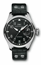 IWC Big Pilots Auto Steel Mens Strap Watch Date Power Reserve IW5004-01 46.2mm