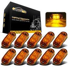 "10Pcs Amber LED Lamp2.5"" 2 Diode Oval Clearance Trailer Truck Side Marker Light"