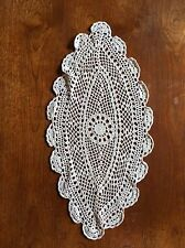 Large Vintage Hand Crocheted Doily 57cm Centrepiece Crochet Dining Table