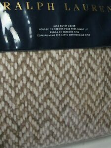 Ralph Lauren MARYLEBONE BRANTLY Brown 3pc Duvet Cover Shams Set - King