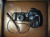 Nikon L35  TW 4F CAMERA W/ Nikon 38/65 mm Nikon macro lens  and camera &  case