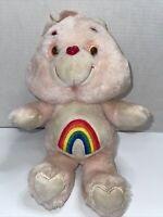 Vintage KENNER 1983 Pink CHEER BEAR Plush Stuffed Care Bear Rainbow