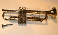 VTG CONN DIRECTOR TRUMPET! W/CONN 4 MOUTHPIECE! 'SHOOTING STARS'! MADE IN USA!
