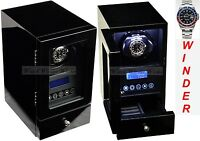 Luxury Display Single Automatic Watch Winder model:Orpheus-1DLL-LED Lights