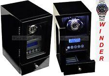 Luxury Display Single Automatic Watch Winder Model Orpheus-1dll-led Lights