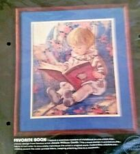 "Vintage 1985 DIMENSIONS Favorite Book Crewel Embroidery Kit 14"" x 16"" #1296 New"