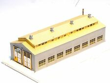Factory Built 1087 Micron Art, Large 2 stall Engine House, Brass