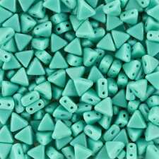 Kheops® Par Puca® 2 Hole Seed Beads Opaque Green Turquoise (6mm) 9g (K104/12)