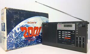 SONY ICF-2001 SHORTWAVE RADIO AM/FM/LW/SSB-CW VINTAGE 1980 w/ BOX & MANUALS