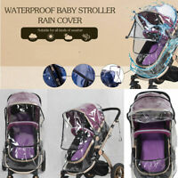 Waterproof Rain Cover Wind Dust Shield For Baby Strollers Pushchairs Universal