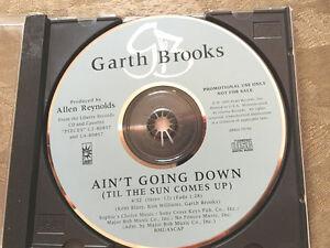 "GARTH BROOKS ""Ain't Going Down Til The Sun Comes Up"" DJ PROMO CD Single 1993 1tr"