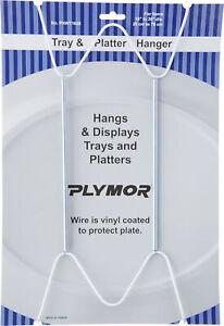 """Plymor White Mountable Plate Hanger 12 Pack 14.25"""" x 6.5"""" x .875"""" Plates 16""""-30"""""""