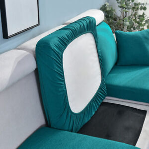 Sofa Seat Cushion Cover Stretch Chair Couch Slipcovers Settee Backrest Protect >