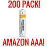 200 AMAZON AAA ALKALINE BATTERIES BASICS 1.5V BULK WHOLESALE FRESH LIQUIDATION