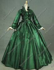 Victorian Dickens Christmas Caroler Dress Ball Gown Reenactment Clothing 170 M