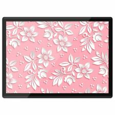 Quickmat Plastic Placemat A3 - White Flowers Pink Girls Floral  #14866
