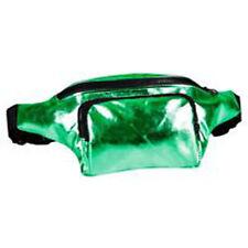 80's Style High Shine Bum Bag - 80's Fancy Dress - Green