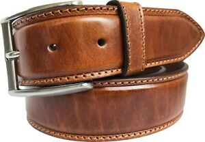 MENS ITALIAN  LEATHER BELT TAN 40mm S M L XL XXL