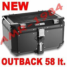 GIVI TREKKER OUTBACK 58 LT. ALLUMINIO NERO OBK58B MONOKEY BLACK VALIGIA BAULE