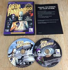 PC CD-ROM Grim FANDANGO LucasArts Clásico Juego De Video Juego Original