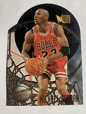 """1995-96 Fleer Metal MICHAEL JORDAN """"Maximum Metal"""" Die-cut #4 Bulls"""