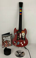 PlayStation 2 PS2 Guitar Hero Gibson Red Octane Wired Controller w/ Game
