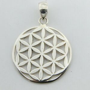 925 SILVER STERLING - Flower of Life PENDANT - Silver Jewelry #p102