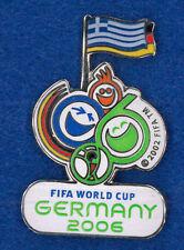 Germany 2006 World Cup soccer pin - logo Greece flag - FIFA football badge