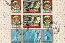 Republique de Guinee vom 1965 Raumfahrt gestempelt Block