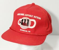 Vintage 411 Motor Speedway Seymour TN Racing Rope Braid Red Snapback Hat Cap 5d7c065dc70c
