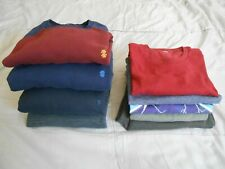 Lot of 9 Mens Clothing Work Clothes Lounge Wear Tops M-L Bottoms M