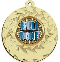 50 mm Well Done Medals With FREE Ribbon & Engraving up to 30 Letters