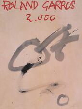 TENNIS ART PRINT - Roland Garros, 2000 by Antoni Tapies Original Poster