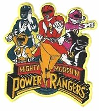 """Power Rangers 4.5"""" Embroidered Sew/Iron-on Patch Premium Quality"""