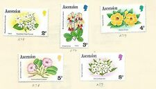 1982 Flowers Part set of 5  Set Mint Hinged as Scan