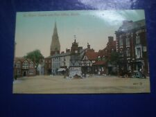 More details for old postcard st peter's square and post office ruthin c1900s