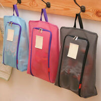 AM_ Portable Travel Shoes Storage Outdoor Tote Pouch Zip Waterproof Bag Organize