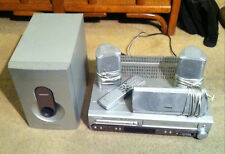 Magnavox DVD/VCR Combo/VHS Recorder + Remote +Theater Surrond Sound Speakers