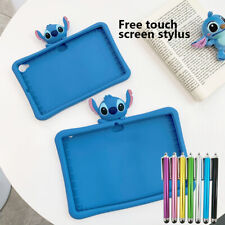 "For iPad 2 3 4 9.7"" 2017 / 2018 Cute 3D Cartoon Stitch Silicone Stand Case Cover"