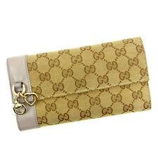 ba9f593d4a181 Gucci Wallet Purse Long Wallet GG Purple Beige Woman Authentic Used Y5212
