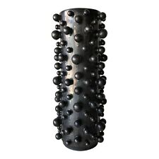 """Modern Black Bubbles Cylinder Vase 