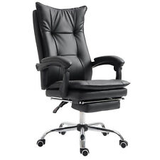 Ergonomic Office Chair 360° Napping Reclining Seat w/ Footrest Black
