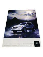 2004 Mercedes Benz ML320 -  Original Vintage Advertisement Print Car Ad J428