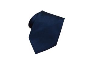 "Brioni Mens Silk Necktie Solid Black Satin Finish Tie Made in Italy 60"" Long"