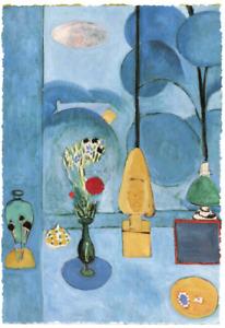 HENRI MATISSE THE BLUE WINDOW LIMITED EDITION ART PRINT 24x35 room flowers green