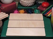 RECTANGLE Shape Craft Blank 18x6cm BIRCH Wood Plaque Sign Pyrography