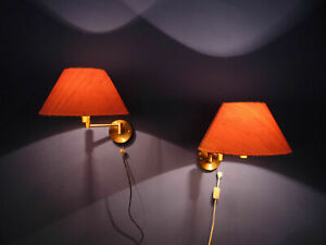 Two Temde Wall Lamps Switzerland brass 60s TOP Condition