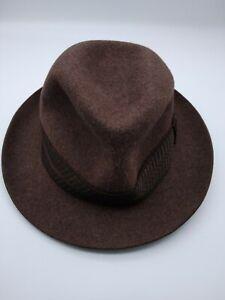 Linney of London 100% Fur/Felt trilby/Fedora Hat Vintage/New size 58